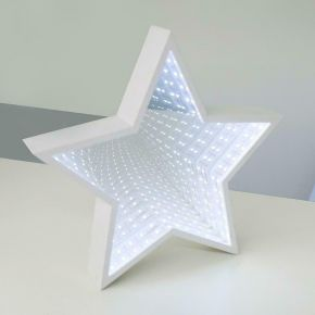 ACA LED Χριστουγεννιάτικο Αστέρι Μπαταρίας Καθρέπτης 59 Led 2835 Ψυχρό Λευκό IP20