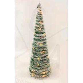 ACA LED Χριστουγεννιάτικο Δέντρο Μπαταρίας Rattan Πράσινο 40 Mini Leds Θερμό Λευκό IP20