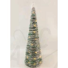 ACA LED Χριστουγεννιάτικο Δέντρο Μπαταρίας Rattan Πράσινο 50 Mini Leds Θερμό Λευκό IP20