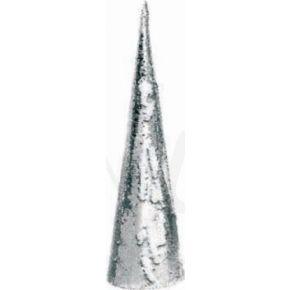 ACA LED Χριστουγεννιάτικο Δέντρο Μπαταρίας Ασημί & Λευκές Πούλιες 20 Mini Leds Θερμό Λευκό IP20