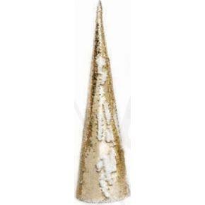 ACA LED Χριστουγεννιάτικο Δέντρο Μπαταρίας Χρυσές & Λευκές Πούλιες 35 Mini Leds Θερμό Λευκό IP20