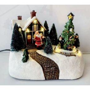 ACA LED Χριστουγεννιάτικο Διακοσμητικό με Κίνηση & Μουσική IP20 X0301