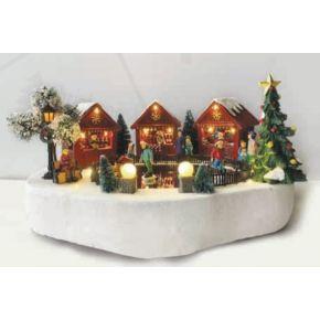ACA LED Χριστουγεννιάτικο Διακοσμητικό με Κίνηση Πατινάζ & Μουσική IP20 X0313