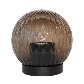 ACA Πρισματική Ακρυλική Μπάλα E27 Με Βάση Για Κολώνα Φιμέ Ø15