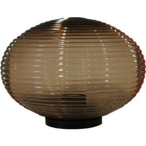 ACA Πρισματική Ακρυλική Οβάλ Μπάλα Με Γρίφα E27 Φιμέ Μελί Ø32
