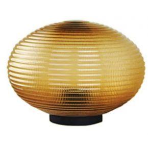 ACA Πρισματική Ακρυλική Οβάλ Μπάλα Με Γρίφα E27 Μελί Ø37