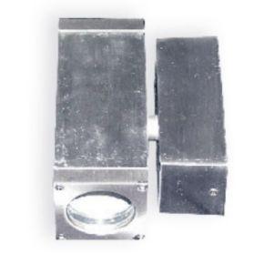 ACA Spot Επίτοιχο Τετράγωνο GU5.3 / MR16 UP-DOWN Αλουμίνιο Nickel Mat IP65