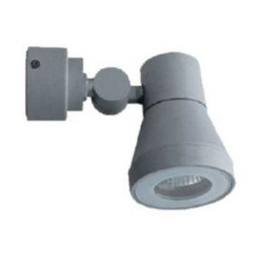 ACA Σποτ Τοίχου 1xGU10 Γκρι Αλουμίνιο IP54 Κινητό