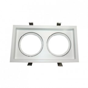 ACA Spot Χωνευτό Kινητό Παραλληλόγραμο G53 AR111 Κρυφού Φωτισμού Λευκό