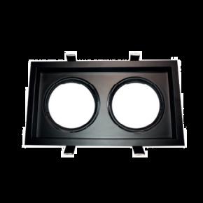 ACA Spot Χωνευτό Kινητό Παραλληλόγραμο G53 AR111 Κρυφού Φωτισμού Μαύρο