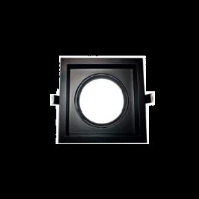 ACA Spot Χωνευτό Kινητό Τετράγωνο G53 AR111 Κρυφού Φωτισμού Μαύρο