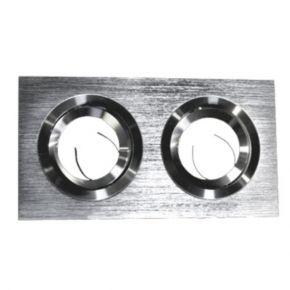 ACA Χωνευτή Κινητή Κονσόλα SPOT GU10 Διπλό Αλουμινίου
