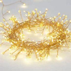 ACA 300 LED Λαμπάκια Cluster Με Χρυσό Καλώδιο Χαλκού 3m 6W & Πρόγραμμα