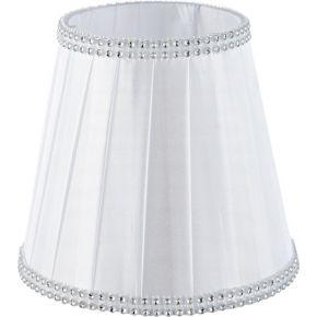 ACA Αμπαζούρ Λευκό Με Σιρίτι Ζιργκον Και Βάση Για E14