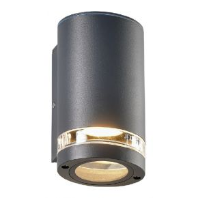 ACA Απλίκα Αλουμινίου Melitta GU10 Max 7W LED IP54 Σκούρο Γκρι