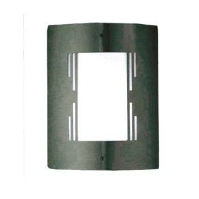 ACA Απλίκα Ανοξείδωτο Ατσάλι Nickel Mat 1xE27 30x22cm IP45