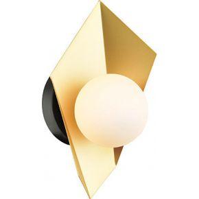 ACA Απλίκα Μεταλλική G9 Χρυσό Μαύρο & Γυαλί Polygon