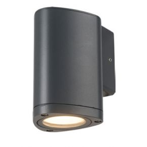 ACA Απλίκα Τοίχου Αλουμινίου Albi 3W IP54 Σκούρο Γκρι