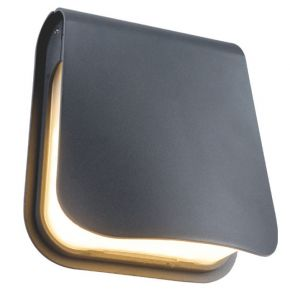 ACA Απλίκα Τοίχου Αλουμινίου Enna LED SMD 8W IP54 Σκούρο Γκρι