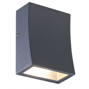ACA Απλίκα Τοίχου Αλουμινίου FER LED 3W IP65 Σκούρο Γκρι
