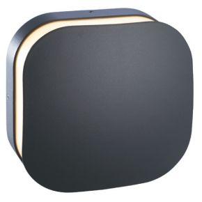 ACA Απλίκα Τοίχου Fabio LED SMD 10W IP65 Σκούρο Γκρι