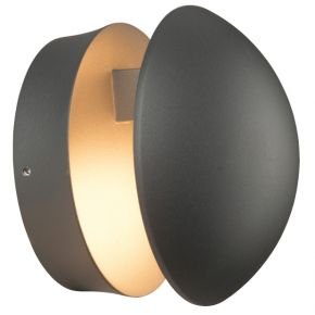 ACA Απλίκα Τοίχου Gabi LED SMD 13W IP54 Σκούρο Γκρι