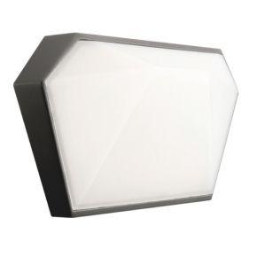 ACA Απλίκα Τοίχου Lizio LED SMD 10W IP65 Σκούρο Γκρι