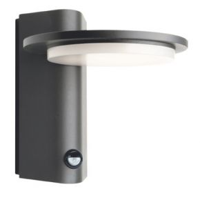 ACA Απλίκα Τοίχου Valle LED SMD Με Αισθητήρα Κίνησης 13W IP65 Σκούρο Γκρι