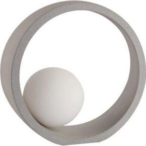 ACA Επιτραπέζιο Φωτιστικό 1xG9 Τσιμέντο Και Λευκό Γυαλί Venus