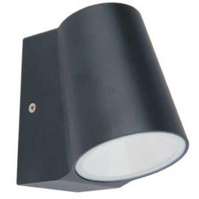 ACA Φωτιστικό Κήπου Αλουμινίου LED COB Simore Wall 6W IP54 Σκούρο Γκρι
