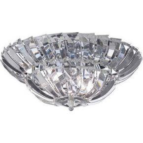 ACA Φωτιστικό Οροφής 4xE14 Κρύσταλλο & Χρώμιο Μέταλλο Luca