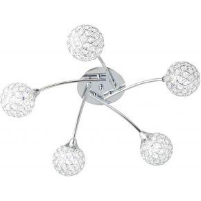 ACA Φωτιστικό Οροφής 5xG9 Κρυστάλλινες Μπάλες Skylar