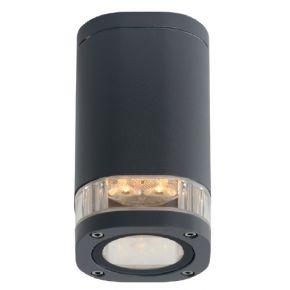 ACA Φωτιστικό Οροφής Αλουμινίου Elpis GU10 Max 7W LED IP54 Σκούρο Γκρι