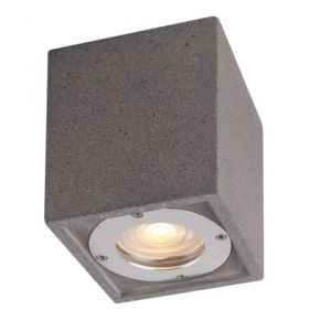 ACA Φωτιστικό Οροφής Τσιμεντένιο Agnes GU10 Max 7W LED IP65