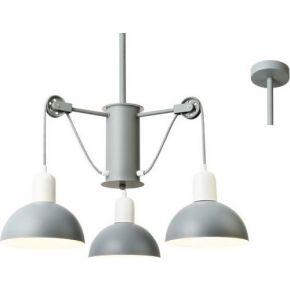 ACA Κρεμαστό Φωτιστικό 3xE14 Μεταλλική Λευκό/Γκρι Cezanne