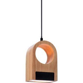 ACA Κρεμαστό Φωτιστικό LED 10W Ξύλο & Ακρυλικό Yoko