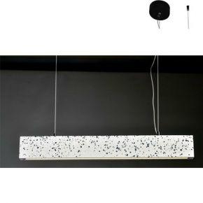 ACA Κρεμαστό Φωτιστικό LED 14W Λευκό Terrazzo Klimt