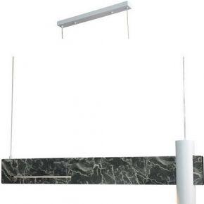 ACA Κρεμαστό Φωτιστικό LED 1xGU10+ 18W LED Αποχρ. Μαύρου Μάρμαρου