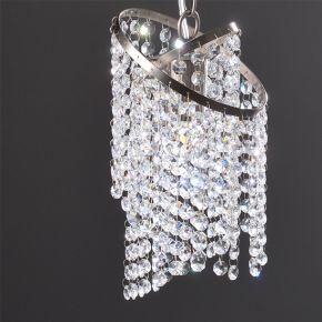 ACA Κρεμαστό Φωτιστικό Οροφής 1xE27 Κρύσταλλο Nickel Eliza