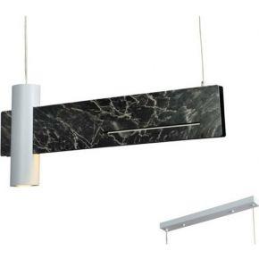 ACA Κρεμαστό Φωτιστικό LINEA 12W LED + 1xGU10 max 35W Μαύρου Μάρμαρου Μεταλικό