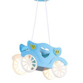 ACA Κρεμαστό Παιδικό Φωτιστικό 2xE27 Πρίγκιπας Μπλε Kingdom