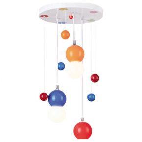 ACA Κρεμαστό Παιδικό Φωτιστικό 3xE27 Πολύχρωμο Bubbles