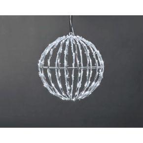 ACA LED 3D Χριστουγεννιάτικη Μπάλα 100 Steady Leds 5mm 20x20x21cm IP44
