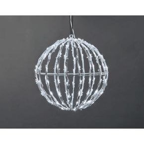 ACA LED 3D Χριστουγεννιάτικη Μπάλα 120 Steady Leds 5mm 25x25x26cm IP44
