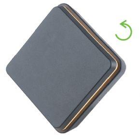 ACA LED Απλίκα Τοίχου Αλουμινίου Cori 12W IP54 Σκούρο Γκρι
