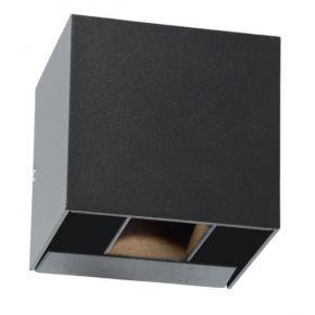 ACA LED Απλίκα Τοίχου Αλουμινίου Menoa 10W IP54 Σκούρο Γκρι