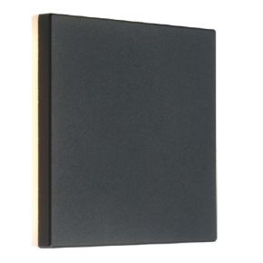 ACA LED Απλίκα Τοίχου Αλουμινίου POLLA-S 8W IP54 Σκούρο Γκρι