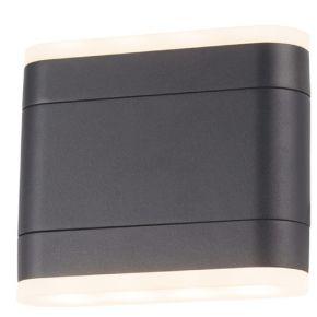 ACA LED Απλίκα Τοίχου Itri Αλουμινίου 9W IP54 Σκούρο Γκρι