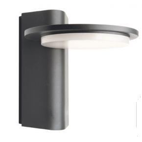 ACA LED Απλίκα Τοίχου Valle Αλουμινίου 13W IP65 Σκούρο Γκρι