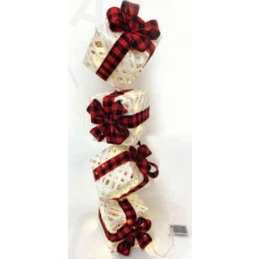 ACA LED Διακοσμητικά Δώρα Χριστουγεννιάτικα με Μπαταρίες 50 Mini Leds IP20